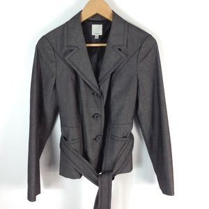Halogen belted suit jacket with pants